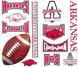 22 Arkansas Razorbacks Wall Stickers Decal Accents Hogs