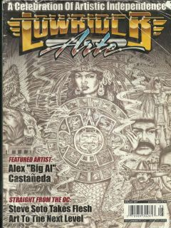 Lowrider Arte Magazine 2007 Aztec Chicano Tattoo Art Flash