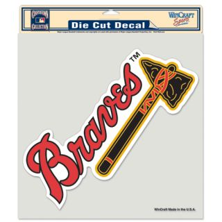 Atlanta Braves Primary Logo Die Cut Car Window Sticker Decal 8 x 8