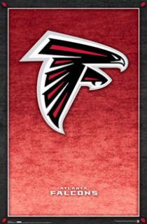 atlanta falcons football official team logo poster