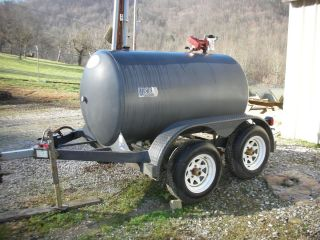 Diesel Fuel Trailer w Transfer Pump Dual Axle 500 Gallon