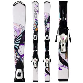 Kids Girls Skis Atomic Elysian Jr 130cm XTL 7 Lightrak Bindings 2011
