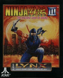 Ninja Gaiden III Lynx Atari Collectors Rare New Factory Sealed Box