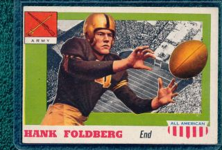 American Football 32 Hank Foldberg EX Army Black Knights Card