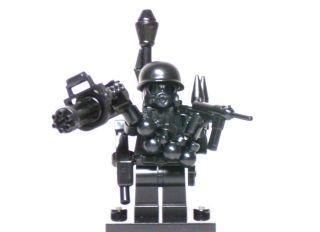Lego Custom Minifigure ARMY SOLDIER Brickarms Weapons Military Combat