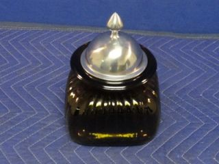 Square Glass Bottle with Lid Artland Tobacco Canister Jar U14