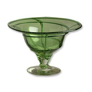 Aromatique Swirl Green Potpourri Bowl
