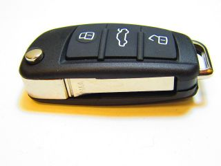 Key Fob Shell Case Cover for Audi A2 A3 A4 A6 A6L A8 TT 3BT