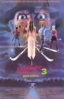 Street 3 Dream Warriors Movie Promo Poster Patricia Arquette