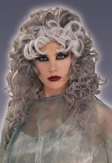 Long Gray Lady Ghost Bride Adult Halloween Costume Wig