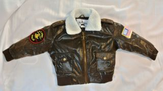 Ashburn Boys Military Airforth Jacket Size 4 T Adorable