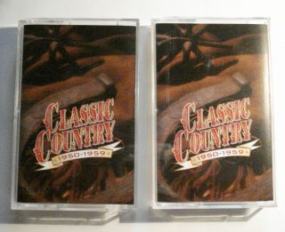 TIME   LIFE CLASSIC COUNTRY 1950 1959 on two audio cassettes.