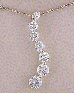 End Designer Diamond Necklace Gold Journey Pendant Aucoin Hart