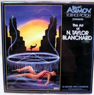 1992 Isaac Asimov Art of Blanchard Calendar Mint SEALED