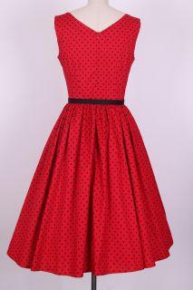 50s Audrey Hepburn Black Dots Dress Size s M L XL 1x 2X 3X 4X Pinup