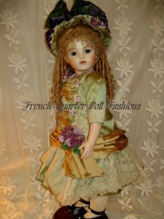 24 French Doll Dress Pattern Victorian Style Aurelia
