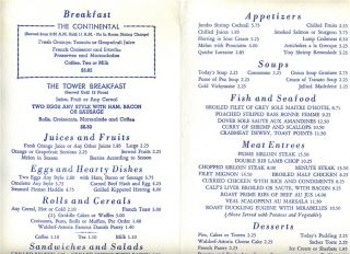 Waldorf Astoria Hotel Room Service Menu New York City 1976 Hilton