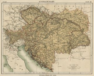 This color map of Austria Hungary was included in Encylopaedia