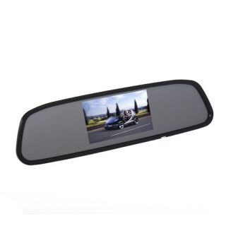 LCD DVD VCD AV Car Rear View Mirror Monitor Screen Auto Reversing