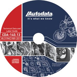 Autodata 2012 Motorcycle Technical Data Labor Guide CD Subscription