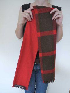 vtg 40s wool 3 4 bill atkinson plaid swing coat jacket scarf