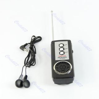 Portable Belt Clip Auto Scan FM Radio Receiver with Flashlight