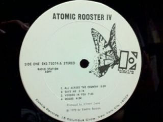 Atomic Rooster Atomic Rooster IV LP White Label Promo