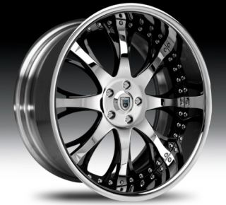22 asanti AF153 Black Chrome Wheels Rims 2 Piece Tone