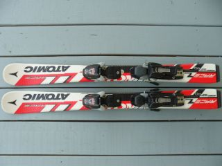 Junior Downhill Snow Skis Atomic Race 89cm with Marker Bindings