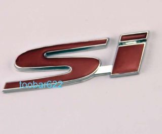 Car Truck Decor 3D Decal Emblem 3M Metal Sticker SI Honda Civic TR29