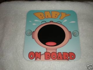 Scraming Baby on Board Safety Sign Car Window Decor
