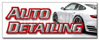 AUTO DETAILING DECAL sticker car wash wax cleaning equipment supplies