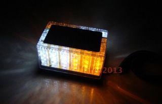 LED Waterproof Magnets Strobe Light Amber White Base Auto Light