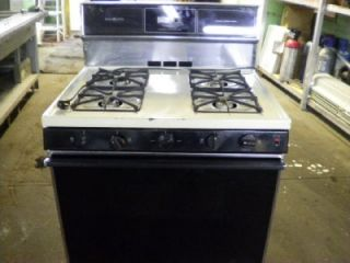 general electric 4 burner gas stove oven auto pilot