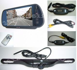 G505 7 Car Mirror Monitor Wireless Rearview 5LEDS Infrared HD Camera