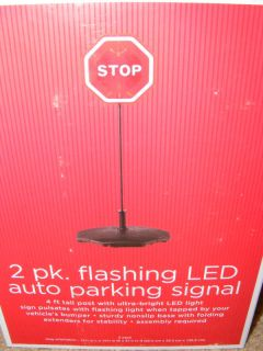 Garage Auto Parking Signal Flashing LED Light 2 Pack