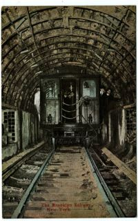 1910 Brooklyn Subway Train Tunnel NY New York City