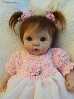 ღ♥ღ♥ooak Hand Sculpted Mini Artist Polymer Clay Baby Girl Art