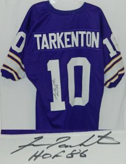 FRAN TARKENTON Signed VIKINGS Throwback Jersey w/HOF86   SCHWARTZ