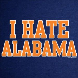 Hate Alabama T Shirt Auburn Jersey Funny Tigers Football College