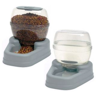 Bergan Large Pet Dog Cat Feeder and Waterer Automatic