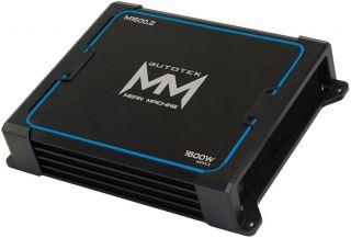 car audio amplifier amp 2 channel m1600 2 m16002 mean machine series