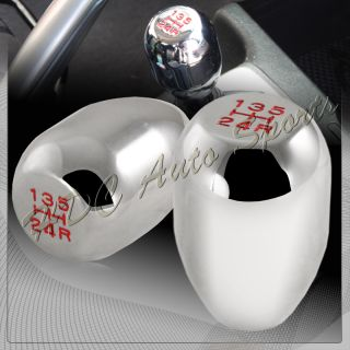 Speed Manual Transmission Chrome Aluminum MT Shifter Shift Knob