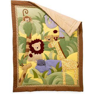 Rainforest Jungle Animal Baby 4 Piece Crib Bedding Set
