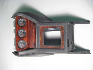 Audi 90 Center Console Instrument Cluster Bezel Gauges Used Wood Trim