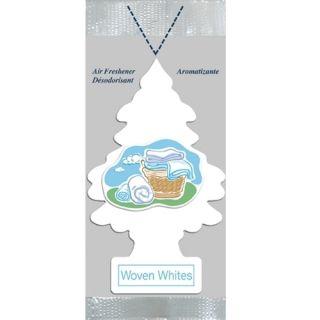 Pack Little Trees Woven Whites Car Air Freshener