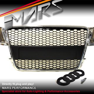 Audi A5 8T RS5 RS Honey com Style Chrome Black Front Grille Grill 08