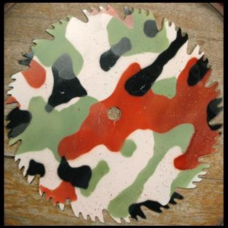 Militia Military Camouflage Airbrush Stencil Template
