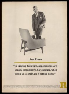 1962 Jens Risom Richard Avedon Photo Comfort Conscious Chair Jr Design