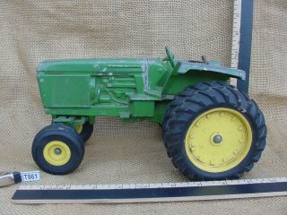 Vintage Green Yellow Ertl TRACTOR JOHN DEERE Hard Rubber Tires Axel